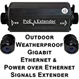 USG Outdoor Weather-poof Gigabit Ethernet & Power Over Ethernet Signals Extender Booster : PoE+ 25W, No External Power Supply, RJ45 Jacks, Extend PoE & Network Ethernet Signal 300ft : Business Grade