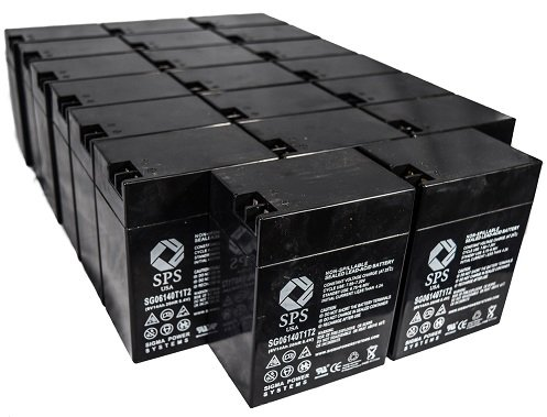 SPS Brand 6V 14 Ah Terminal T1T2 Replacement Battery for Carpenter Watchman 610850R000 (24 PACK) by SPS