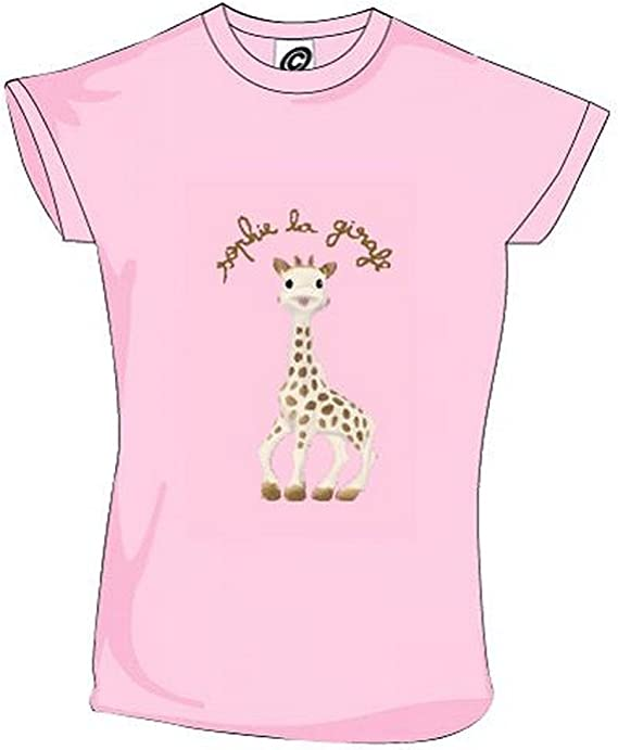 Sophie la Girafe Tee Shirt Manches Courtes 3 Ans Rose