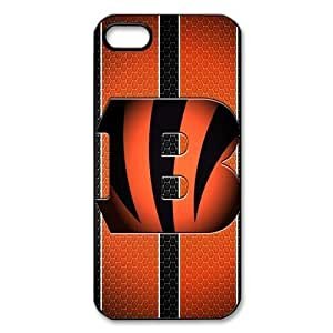 iphone 5 Case/iphone 5s Covers Hard Back Protective-Unique Design Cute NFL Cincinnati Bengals Case Perfect as Christmas