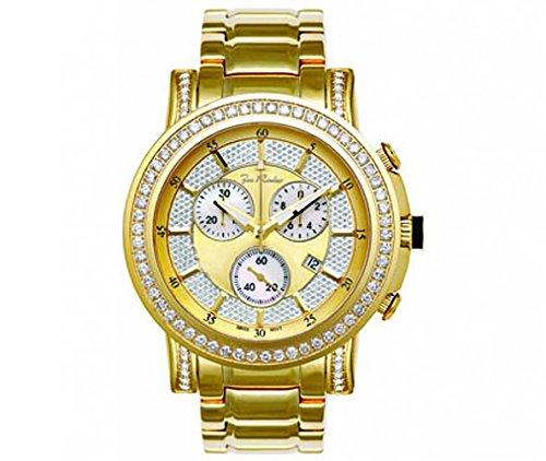 Joe Rodeo Diamond Men's Watch - TROOPER gold 3.25 ctw