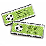 GOAAAL! - Soccer - Candy Bar Wrappers Baby Shower or Birthday Party Favors - Set of 24