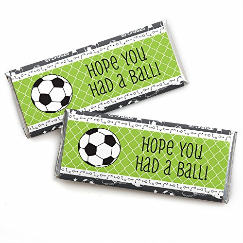 GOAAAL! - Soccer - Candy Bar Wrappers Baby Shower or Birthday Party Favors - Set of 24 by Big Dot of Happiness