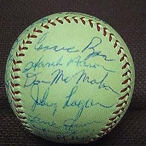 1957 Milwaukee Braves Team Signed Baseball - Autographed Baseballs