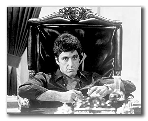 Globe Photos ArtPrints Al Pacino Siting On Chair Black and White Portrait - 10