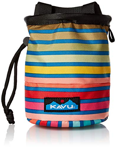Rock Climbing Chalk Bag - KAVU Women's Peak Seeker, Chroma Stripe, No Size