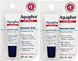 Aquaphor Lip Repair .35 Fluid Ounce Carded Pack ganKaP, 2 Pack (0.35 oz)