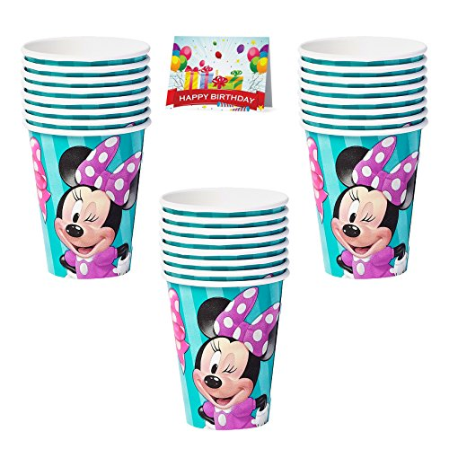 Minnie Mouse Birthday Party Cups Bundle Pack Of 24