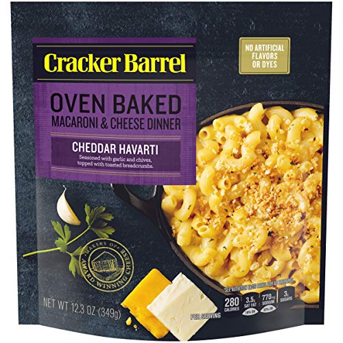 Cracker Barrel Oven Baked Cheddar Havarti Macaroni & Cheese (12.3 oz Boxes, Pack of 5) (Cracker Barrel Oven Baked Mac And Cheese)