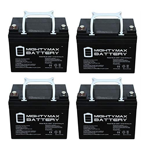 Mighty Max Battery 12V 35AH SLA INT Battery Replacement for Ego Cycle 2 LX, SE - 4 Pack Brand Product