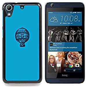 Blue Pattern Minimalist Flight Caja protectora de pl??stico duro Dise?¡Àado King Case For HTC Desire 626 & 626s