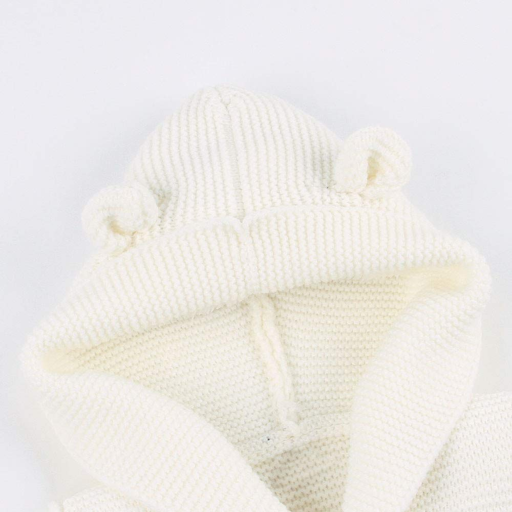 KONFA Toddler Baby Boys Girls Cartoon Bear Button Cardigan Sweater,Kids Warm Knitted Hooded Pullover Tops Winter Clothes