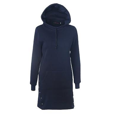 a4b718d42cb424 Juleya Fruan Hoodie Kleid - Herbst Lange Hoody Jumper Kleider mit Kapuze  Drawstring Knöpfe Lässig Täglich Schwarz Blau Grün Grau S-2XL: Amazon.de:  ...