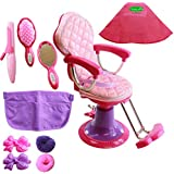 Beverly Hills Doll Collection Salon chair for 18 Inch American Girl Dolls Fully Assembled with Hair Cutting Cape