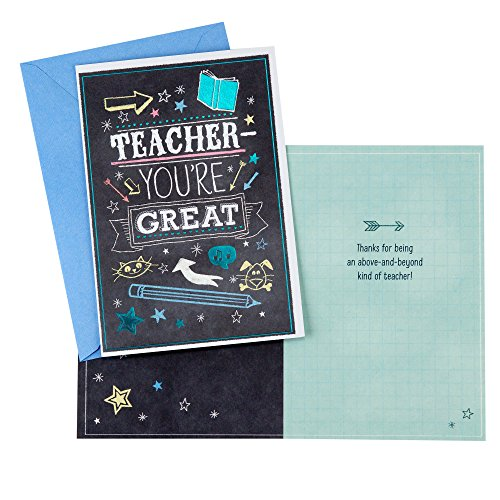 Hallmark Teacher Appreciation Greeting Card Assortment for Day Care, Preschool, Elementary School, End of School or Back to School (8 Cards/Designs and 8 Envelopes)