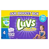 Health & Personal Care : Luvs Ultra Leakguards Diapers, One Month Supply, Size 4, 192 Count by Luvs