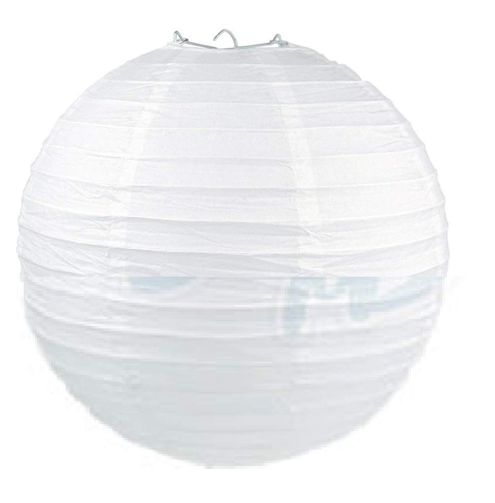 thaisan7, White 8'' Paper Lantern Chinese Decoration Wedding Festivals, Birthdays Even Festival Party x 10 Pack by thaisan7