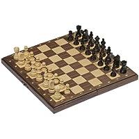 Juego de ajedrez magnético en caja plegable de madera