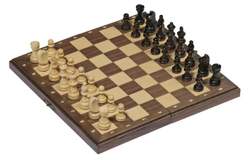 Magnetic Chess Set in Wood Folding Box by Goki