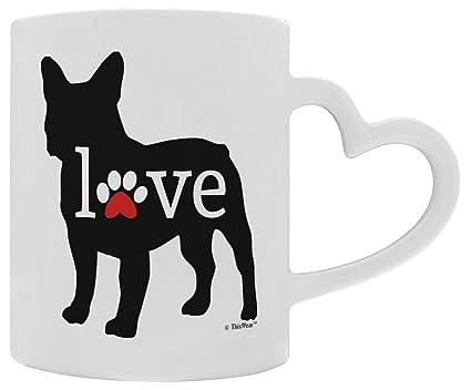 amazon com french bulldog gift love dog paw prints dog owners heart
