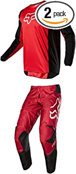 Fox Racing 2019 YOUTH 180 COTA Jersey and Pants Combo Offroad Riding Gear Red Large Jersey//Pants 28W