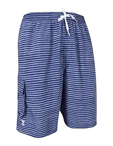 (TYR Men's Micro Stripe Challenger Swim Shorts, Charcoal,)