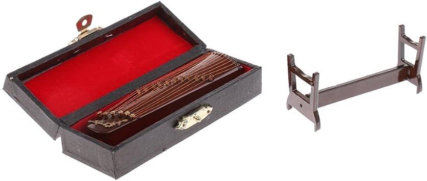 Amazon.es: Toygogo Madera Miniatura 11 Cuerdas Cítara China con Caja Y Soporte Instrumento De Música para 1/12 Accesorios De Decoración De La Sala De Música De La Casa D: Juguetes y juegos