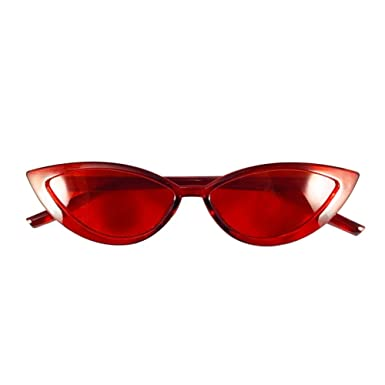 Amazon.com: Gafas de sol transparentes de ojo de gato.: Clothing