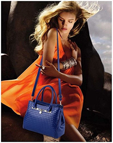 femme main sac à sac sac 3pcs Tibes B sac mode cuir à Bleu Profond cuir pu bandoulière sac Sx8xg5wq