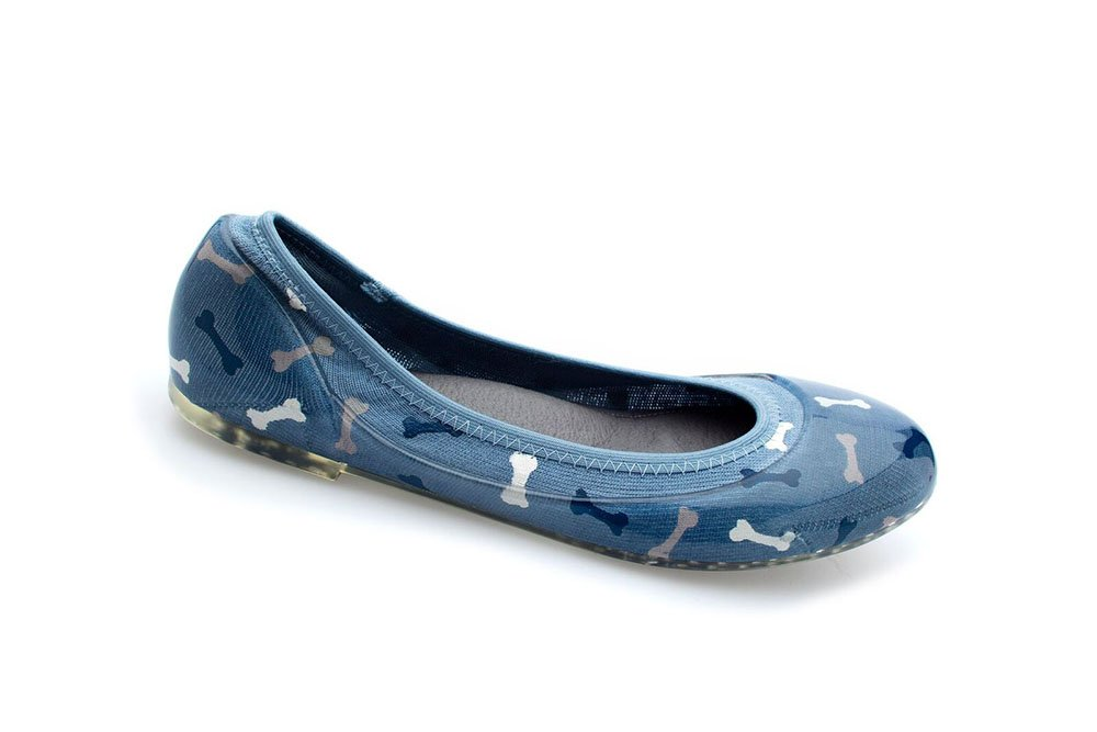JA VIE Foldable Comfortable Flats Shoes for Women Cute Flats Comfortable for Every Day Wear Driving Walking B079QWHMZD 38 M EU|Dog Bone Blu 4cf492