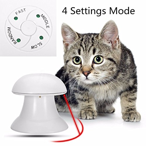 Chris Automatic Interactive Dart Laser Light Exercise Teaser Toy For Cat Dog Pet Funny