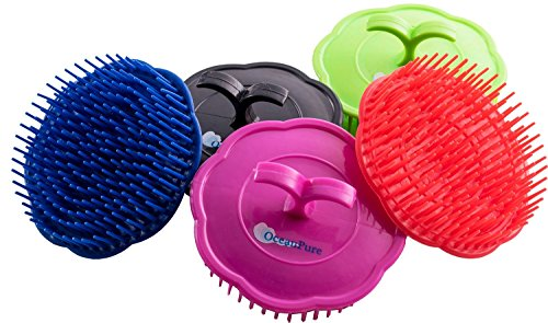 Price comparison product image OceanPure Scalp Shampoo Massage Brushes 3-Pack (Assorted Colors) (Regular)