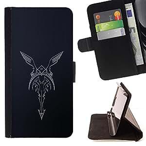 - Queen Pattern FOR Sony Xperia Z1 Compact D5503 /La identificaci????n del cr????dito ranuras para tarjetas tir????n de la caja Cartera de cuero cubie - biker angel fender wings m