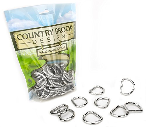 Country Brook Design | 1 Inch Heavy Welded D-Rings (50 Pack) ()