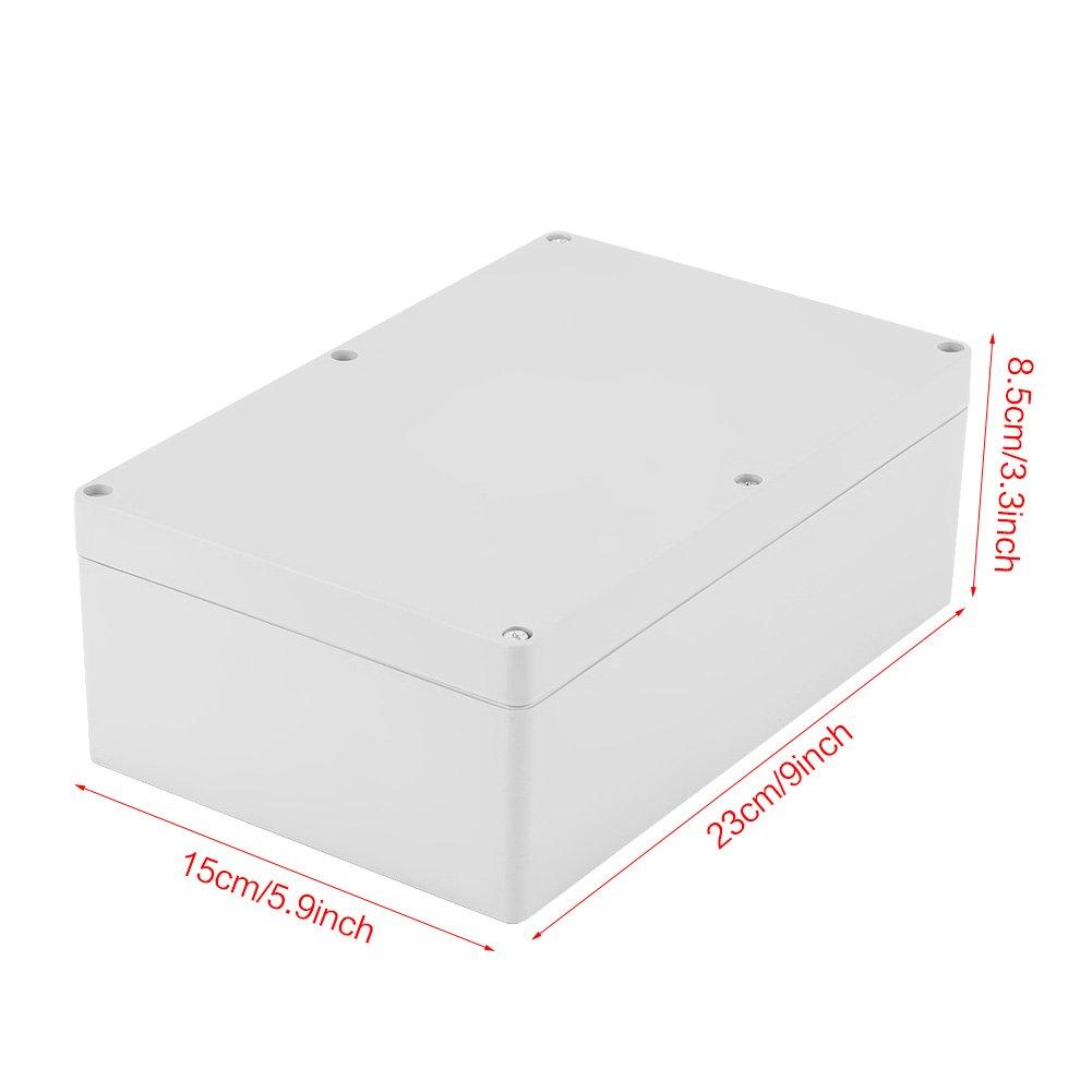 230 150 Akozon Bo/îte de jonction 85mm r/ésistant /à leau bo/îtier en plastique blanc projet bo/îtier bricolage bo/îte de jonction