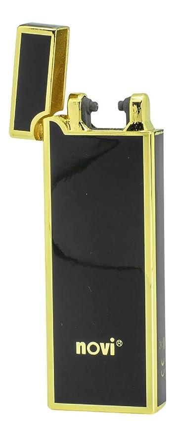 NOVI Motion Plasma Mechero, Generación, Resistente al Viento y Sin Llama Electrónico Mechero, USB Recargable Eléctrico Arco Encendedor – Negro & ...