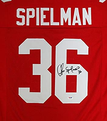 Chris Spielman Autographed Ohio State Buckeyes Red Jersey PSA/DNA