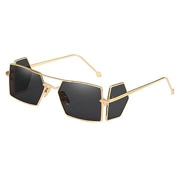 WANGKEAI Pequeñas Gafas De Sol Rectangulares Hombres Lentes ...