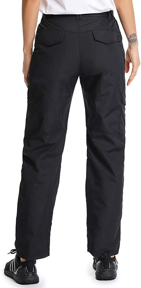 Aiegernle Womens Outdoor Quick Dry Lightweight Hiking Fishing Pants Casual Cargo Pants with Multiple Pockets