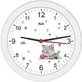 Relógio de Parede Redondo Gatinho, Bell's, Multicor