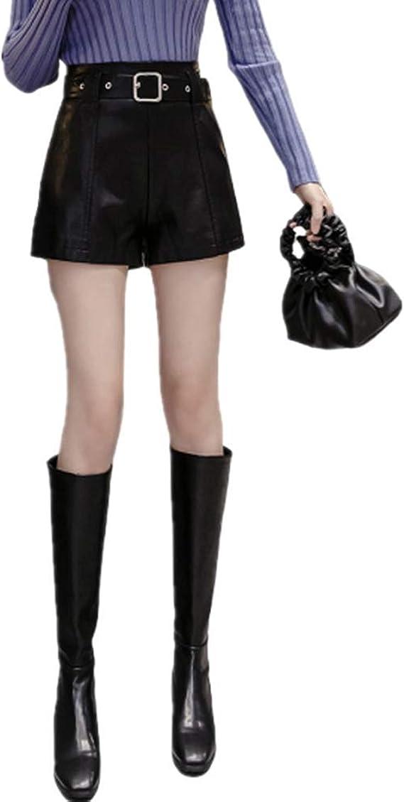 Czytn Pantalones De Piel Sintetica Para Mujer Cintura Alta Cintura Alta Pantalones Anchos Para Mujer Pantalones Ajustados En Forma De A Para Botas Exteriores Amazon Es Ropa Y Accesorios