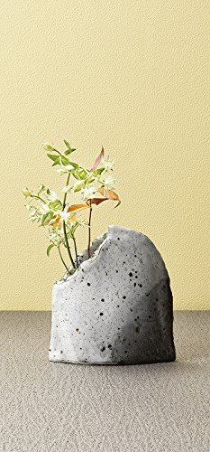 Japanese ceramic Tokoname ware. Ikebana flower vase.