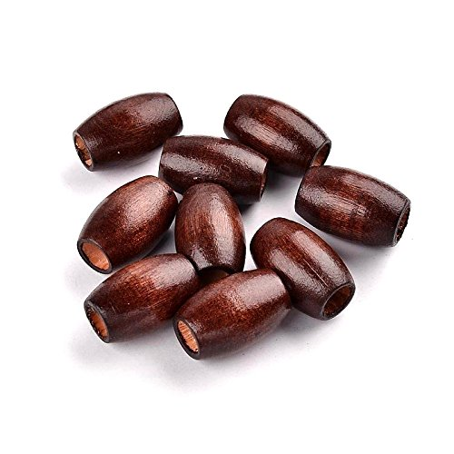 Dark Brown Wood Barrel Beads