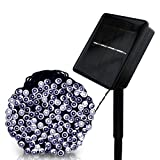 Xubox Solar String Lights, Solar Waterproof LED Lights 39 ft 100 LEDs with 8 Lighting Modes Ambiance Lighting for Outdoor Patio Lawn Landscape Fairy Garden Home Wedding Christmas Holiday Cold White