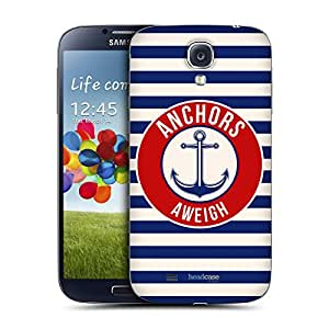 Head Case Designs Anchors Aweigh Nautical Prints Replacement Battery Back Cover for Samsung Galaxy S4 I9500