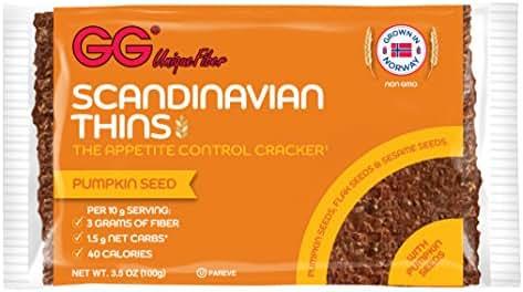 GG Scandinavian Fiber Crispbread Pumpkin Seed Thins, 15 Count