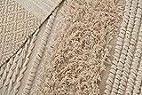 MOTINI Tufted Cotton Area Rug 3' x 5', Hand Woven