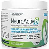 NeuroActiv6 Reds Superfood Powder & Brain Energy Drink: Polyphenols + Nootropics - Raises BDNF Levels • Enhances Mood, Focus, Clarity • Reduces Anxiousness, Fatigue, Brain Fog • Supports Brain Health