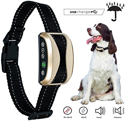 Winner360 [2018 NEW CHIP] No Bark Dog Collar Rechargeable Barking Control Collar Beep Vibration Safe Shock & Anti Bark, Reflective for Small Medium Large Dogs