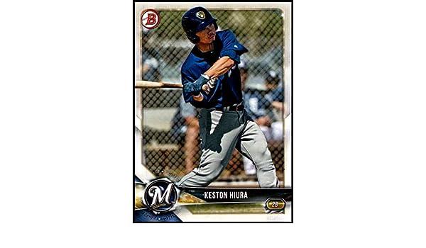 2017 1st Bowman Draft Chrome Refractor Keston Hiura Milwaukee Brewers Qty